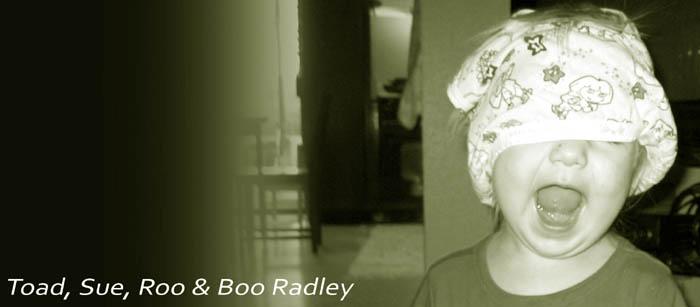 Toad, Sue, Roo & Boo Radley