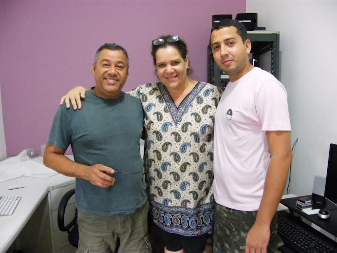 O diretor de TV Joevan Santana, Rada e Jokinha.
