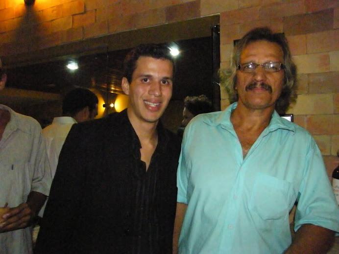 Jornalista Gabriel Tavares e o diretor de fotografia Xeno Veloso