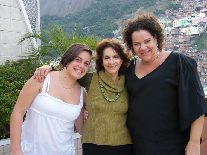 Visistando uma amiga atriz no Rio de Janeiro