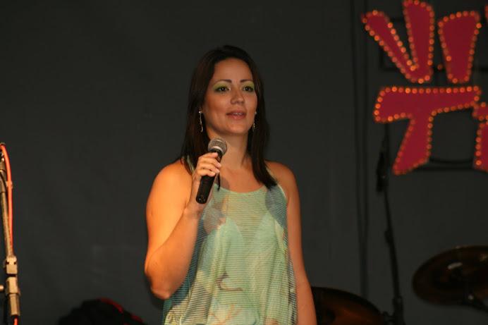 Kaliandra Borges, aluna e agenciada da CAP Escola de Tv, apresentadora da Record