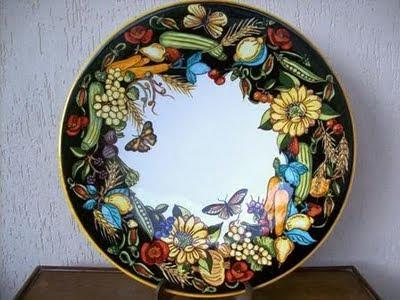 piatto ceramica dipinto