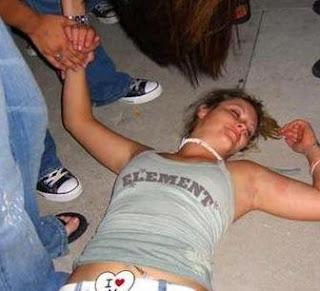 美女醉酒了