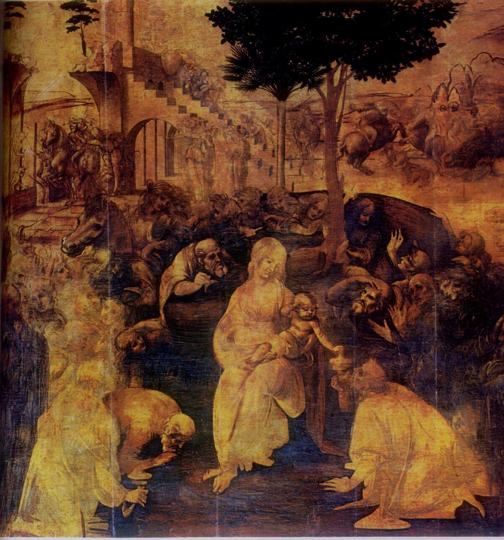 adoration of the magi leonardo