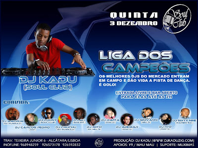 Djs Champions League, the best Djs in the market enter the field to give life to the dance floor and score goals in Lisbon