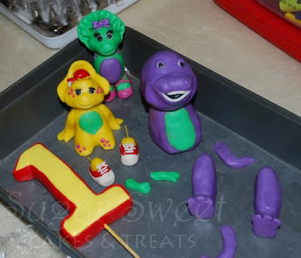 Barney And Friends Cake (and Modeling Chocolate U0026 RKT Recipes)
