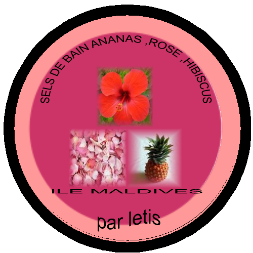 mes produits de beaut fait maison sels de bain ananas rose hibiscus. Black Bedroom Furniture Sets. Home Design Ideas