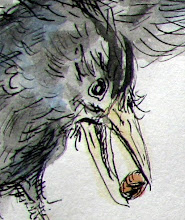 The Crow and The Water Jar fable and watercolor
