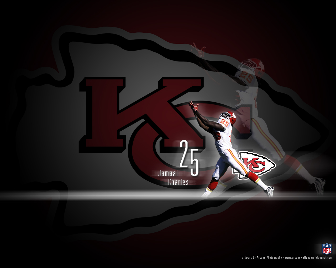 arkane nfl wallpapers jamaal charles kansas city chiefs