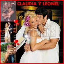 Claudia con Leonel...