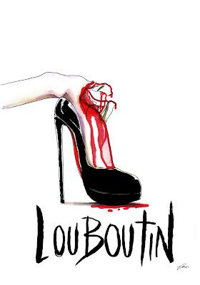 Achraf Amiri, Achraf Amiri ilustração, Achraf Amiri ilustrador, ilustração moda, desenho moda, ilustração sapato Christian Louboutin
