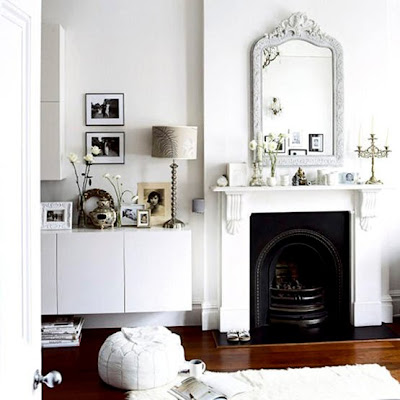 Belle maison inspiring ways to dress up your fireplace for Minimalist victorian living room