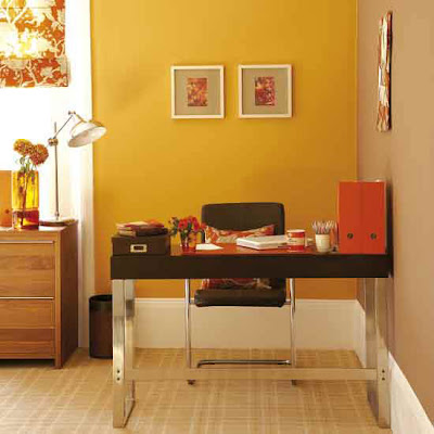 Use lemon yellow with orange to create out a healthy, summery, citrus theme