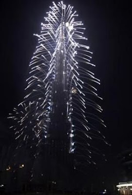 Бурдж Дубай - самый большой в мире небоскреб во время открытия