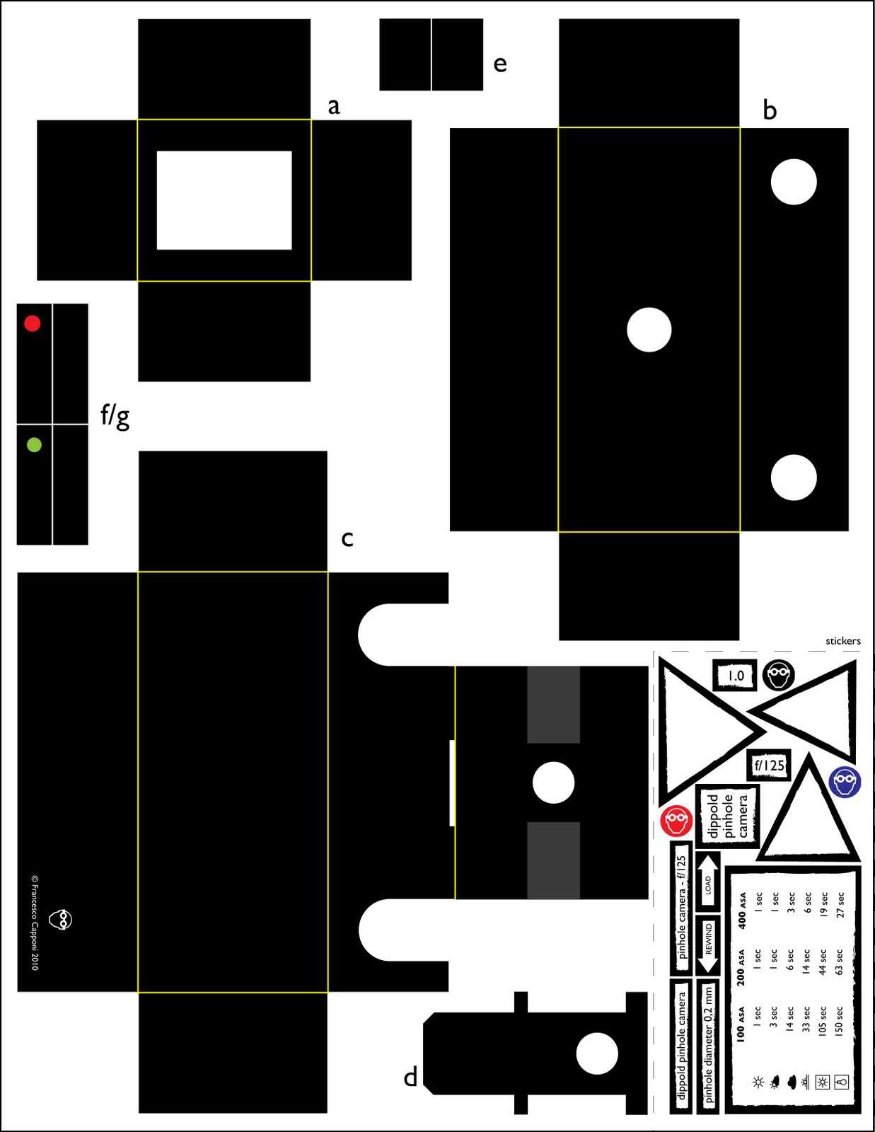 The Lab Template For A 35mm Pinhole Camera