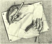 Manos dibujando. M.C Escher