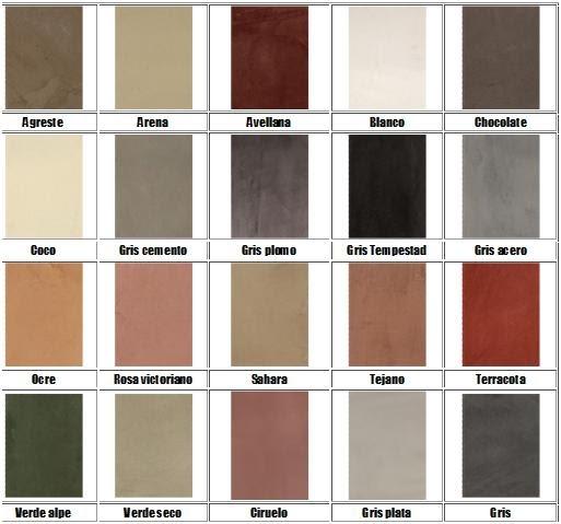 Microcemento alisado colores aproximados - Colores de microcemento ...