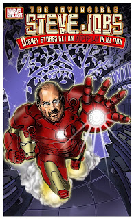 Kirk Manely, Magazine Illustration, Steve Jobs as Iron Man