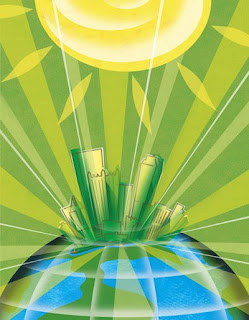 Steven Salerno, Magazine Illustration, Earth Day in Pittsburgh
