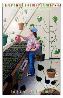 Steve Feldman, Posters, La Grande Farmers' Market,