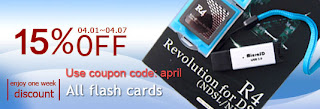 One week 15% discount on all flashcards