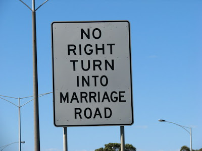 No right turn into Marriage Road