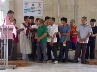 The FATHERS on our church. They are going to sing a hymn to praise God.