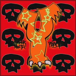 graffiti alphabet leter y, alphabet letter y, font y
