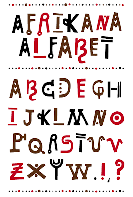 africana alphabet, a-z alphabet,
