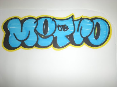 Simple graffiti bubble letters