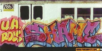 Subway graffiti art