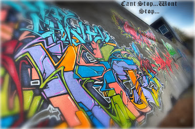 Most graffiti art pieces