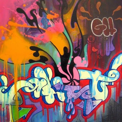 Graffiti arrow ghost alphabet