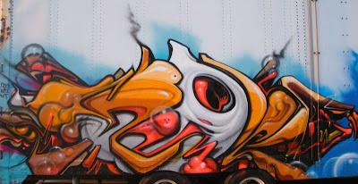 graffiti 3d alphabet blue