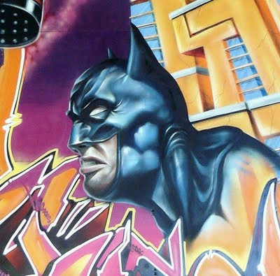 3D graffiti artists batman image