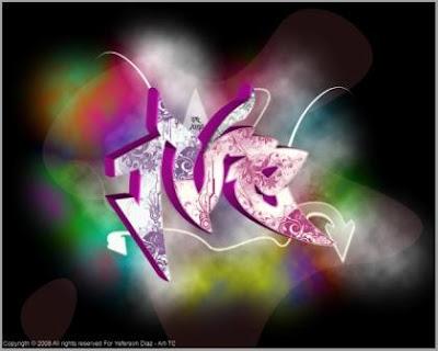 3d graffiti, full color graffiti