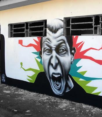 mural art, face graffiti, wall graffiti