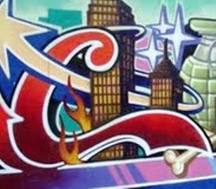 graffiti alphabet c, font c, graffiti font c