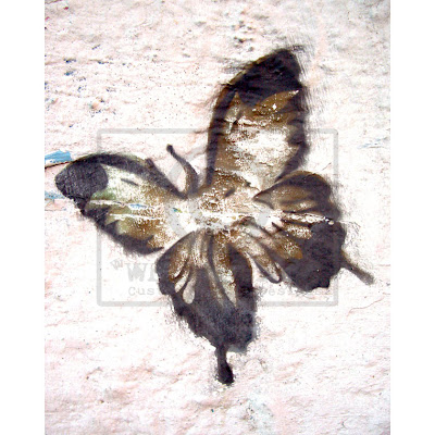 graffiti stencil, butterfly graffiti