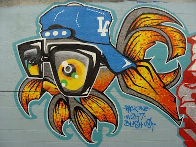 fish graffiti, graffiti animals