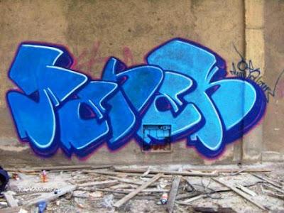 tag graffiti, blue graffiti