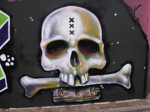 Example Of Skull Graffiti