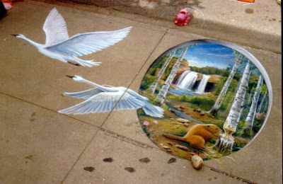 graffiti paving, bird graffiti