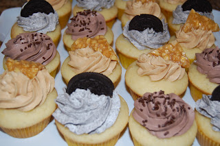 ... cupcake with smooth peanut butter frosting topped with peanut brittle