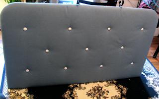 julia finucanes handmade fabric headboard