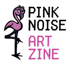 pink noise art zine logo