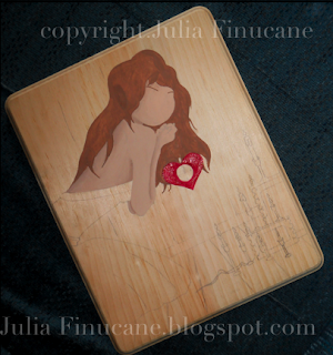 valentine shrine works in progress image by fantasy artist julia finucane