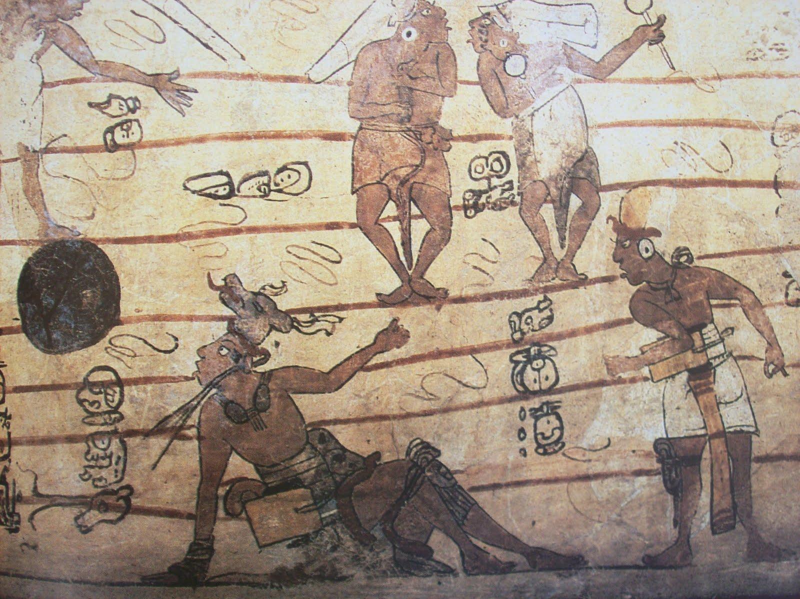 participaron en un pitz con los se ores del xibalb pero fueron derrotados y sacrificados este pasaje mitol gico lo podemos leer en el popol vuh y