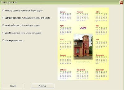 шаблон за годишен календар