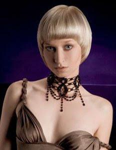 къса руса коса прическа боб